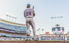 July 1, 2016 - The Colorado Rockies take on the Los Angeles Dodgers at Dodger Stadium. (Photo by Matt Dirksen)