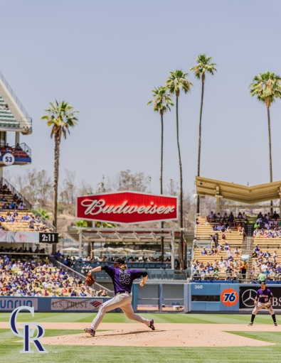 July 3, 2016 - The Colorado Rockies take on the Los Angeles Dodgers at Dodger Stadium. (Photo by Matt Dirksen)