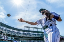 August 18, 2016 - The Colorado Rockies take on the Washington Nationals at Coors Field. (Photo by Matt Dirksen)